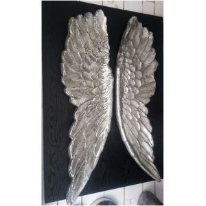 Kare Design Tableau ailes d'ange argent 3D (110 x 80 cm)