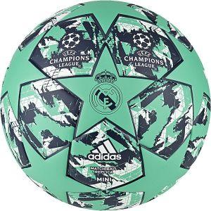 Adidas Real Madrid Ballon Champions League 2020 Finale Mini - Vert/Bleu Marine - Vert - Taille Ball SZ. 1