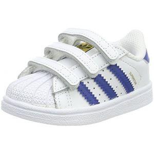 Adidas Superstar, Sneakers Basses Mixte Bébé, Multicolore (Ftwbla/Eqtazu/Ftwbla), 21 EU