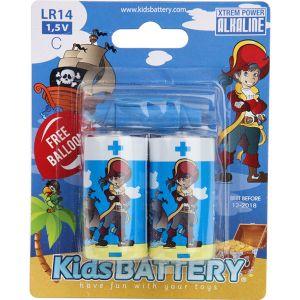 Kidsbattery Lot de 2 piles C (LR14) alkaline pirates