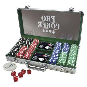 Tactic Mallette de Poker en métal (300 jetons)