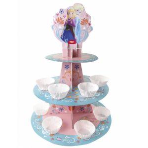 Présentoir pour cupcakes La Reine des Neiges
