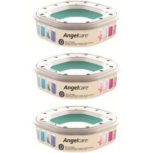 Angelcare 3 recharges octogonale pour poubelle à couches Dress Up