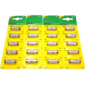 T&E Lot de 5 pile alcaline 23A (8LR23) 12V