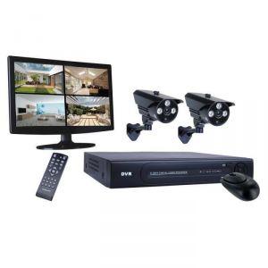 Smartwares DVR724S - Kit de surveillance filaire HD avec enregistreur et 2 caméras