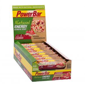 Powerbar Set de 24 barres nutritives Natural Energy Céréales goût Framboise Crunch