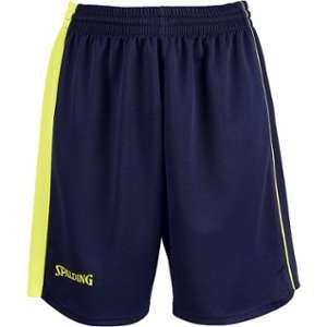Spalding Spalding 4her II Short de basket Femme Bleu Marine/Jaune Paille FR : XS (Taille Fabricant : XS)