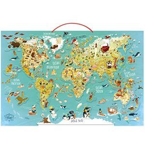 Vilac Carte du monde fantastique magnétique 78 pièces