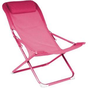 Rendez Vous Déco Chaise longue Talanga rose (lot de 2)