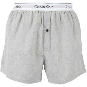 Calvin Klein 2p Slim Fit Boxer Short, Multicolore (Bla /Grey Heather Bhy), Small Homme