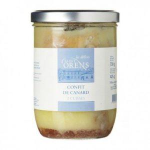 Les Délices de Saint Orens Confit de canard - 2 cuisses, Bocal 730 gr