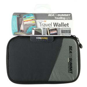 Sea to Summit Portefeuilles Sea-to-summit Travel Wallet Rfid Medium - Black - Taille 17.5 x 10.5 x 2 cm