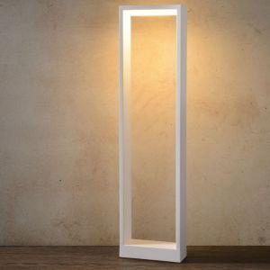Lucide Borne extérieure électrique LED en aluminium hauteur 60cm Goa Blanc