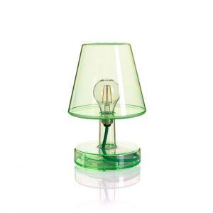 Fatboy Lampe sans fil Transloetje / LED - Ø 16 x H 25 cm vert transparent en matière plastique