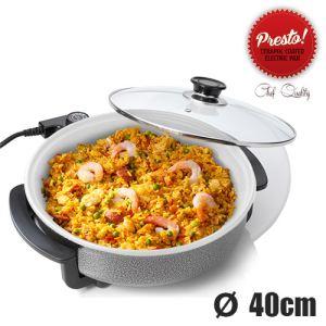 Presto Pan 40 cm - Poêle électrique céramique pour pizza