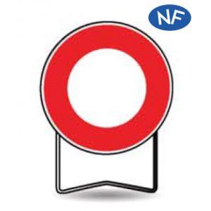 Taliaplast 524001 - Panneau signalisation prescription b0 interdit tout véhicule t1 850mm