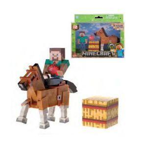 Jazwares Figurines Minecraft : coffret Steve et son cheval marron