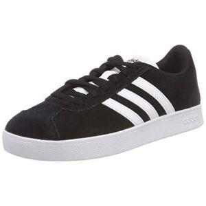 Adidas VL Court 2.0 K Mixte Enfant, Noir (Negbas/Ftwbla 000), 37 1/3 EU