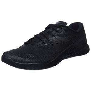 Nike Metcon 4, Chaussures de Fitness Homme, Noir (Black/Black-Black-Hyper Rouge Crimson 001), 44.5 EU