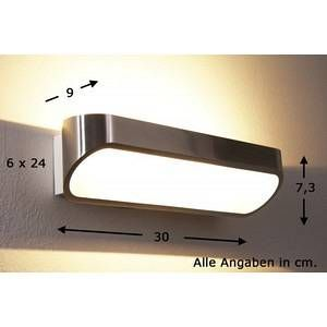 Helestra Applique d'extérieur LED Onno 30 cm aluminium poli