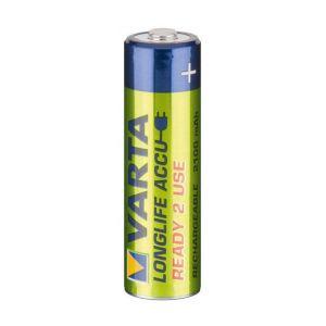 Varta 56706 101 402 - Blister de 2 piles rechargeables NiMH Power Accu Ready-2-Use, 1,2V/2100mAh, format HR06/AA