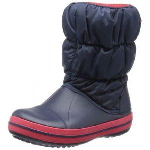 Crocs Winter Puff Boot Kids, Bottes de Neige Mixte Enfant, Bleu