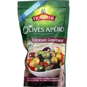 Tramier Olives Apéro Cocktail Gourmand - Le sachet de 160 g net égoutté