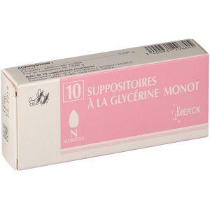 Merck Suppositoires à la Glycérine Monot Nourisson - 10 Suppositoires