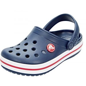 Crocs Crocband Clog Kids, Sabots Mixte Enfant, Bleu (Navy/Red), 22-23 EU