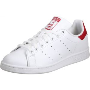 Adidas Stan Smith Blanche Et Rouge Baskets/Tennis Homme