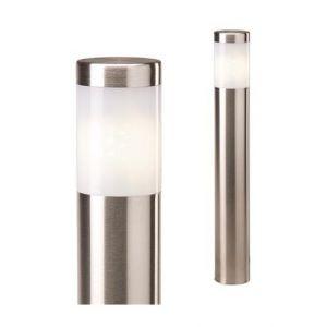"""Perel Garden Lights Borne d'éclairage LED 3 pièces """"Albus"""" Acier inoxydable"""