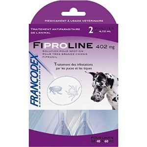 Francodex Fiproline 402 mg - Pipettes antiparasitaires pour Chien 40-60 kg