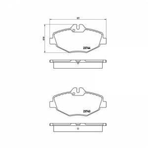 Brembo 4 plaquettes de frein P50049