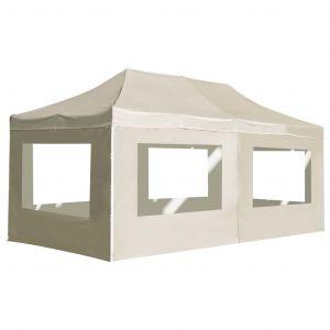 VidaXL Tente de réception pliable avec parois Aluminium 6 x 3 m Crème