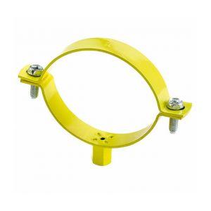Index 25 colliers métalliques lourds jaune gaz M8 - M10 D. 107 - 112 mm - ABGA110