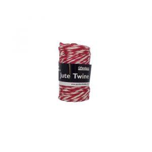 Panduro Ficelle - Ø 2,5 mm - Rouge, blanc - Ficelle Rouge Blanc En jute - 6 fils Longueur 60 mètres Diamètre 2 -5 mm