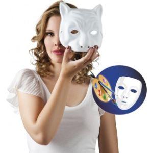 Masque chat à peindre adulte
