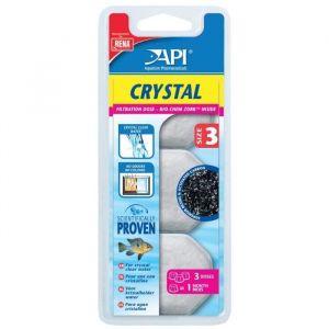 API Fishcare Filtre aquarium API Crystal taille size 3 (x3) pour aquarium