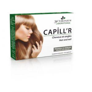 Les 3 chênes Capill'R  - Complément alimentaire chute des cheveux et des ongles