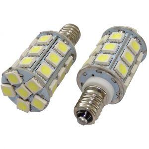 Aerzetix : 2x ampoules E10 27LED SMD blanc 12V lumière blanche C17027