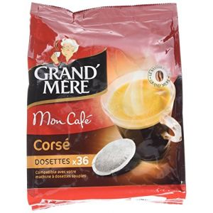 Kraft 3 paquets de 36 dosettes Grand Mère Corsé pour machines à dosettes souples