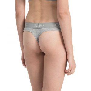 Calvin Klein Vêtements intérieurs Thong - Grey Heather - XS
