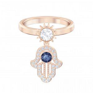 Swarovski Bague Femme - Métal Doré Rose Cristal Bleu - 5515441