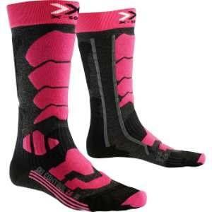X-Socks Control 2.0 Lady Chaussettes de Ski Femme, Anthracite/Fuchsia, FR : XL (Taille Fabricant : 41-42)