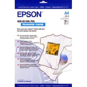 Epson C13S041154 - Cool Peel T-Shirt - Papier transferts sur T-shirt - A4 (210 x 297 mm) - 10 unités