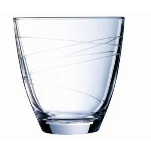 Cristal d'Arques 6 verres à eau Ondulation (30 cl)