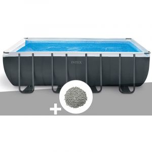 Intex Kit piscine tubulaire Ultra XTR Frame rectangulaire 5,49 x 2,74 x 1,32 m + 20 kg de zéolite