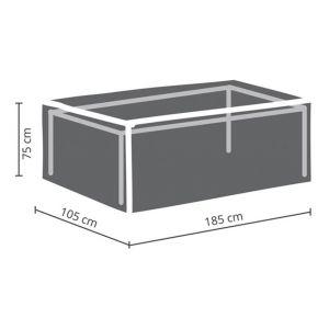 Perel Housse d'extérieur pour table max. 180 cm
