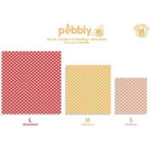 Pebbly Feuille d'emballage alimentaire cire d'abeille
