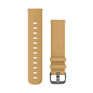 Garmin 010-12691-04 Bracelet de Montre Watch Strap Daim Teint 010-12691-04, Watch Strap, Daim, Teint, Gris, Forerunner 645, Forerunner 645 Music, vívoactive 3, vívoactive 3 Music, v